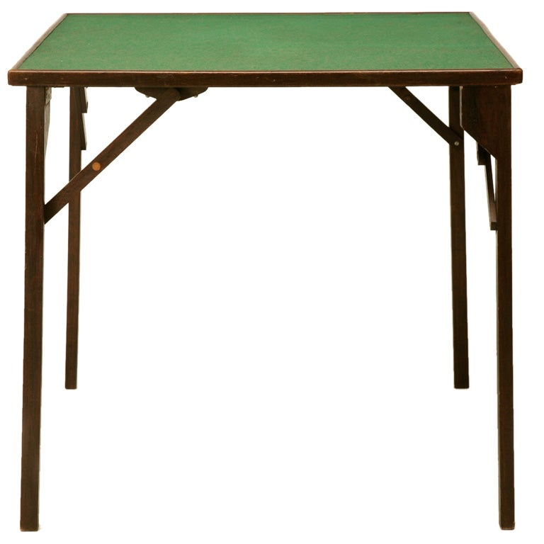 Vintage Folding Table : Vintage French Folding Games Table at 1stdibs