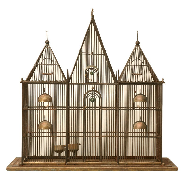 Custom Handmade Iron Bird Mansion
