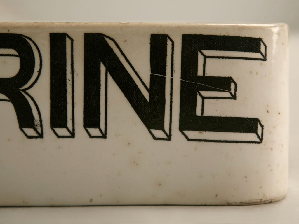 "Antique English ""Margarine"" Whiteware Dairy Slab/Display For Sale 3"
