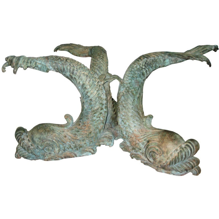 Bronze Italian Dolphin Coffee Table At 1stdibs