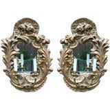 A Pair Northern European Rococo Style Two-Light Wall Appliques