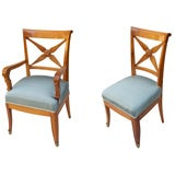Six French Neo-Classic Design Dining Chairs