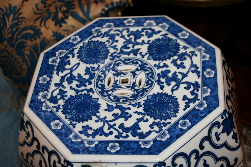Octagonal Chinese Garden Stools At 1stdibs
