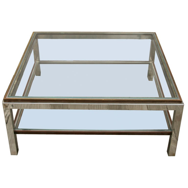 Glass  Tier Coffee Table