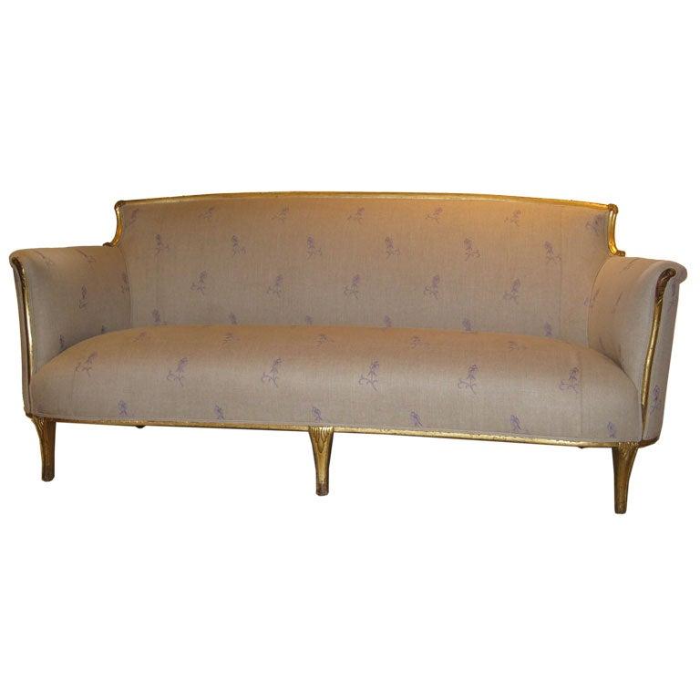 italian gilt canape at 1stdibs. Black Bedroom Furniture Sets. Home Design Ideas