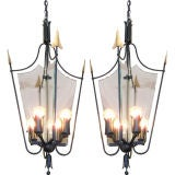 Pair of Italian Tole Lanterns