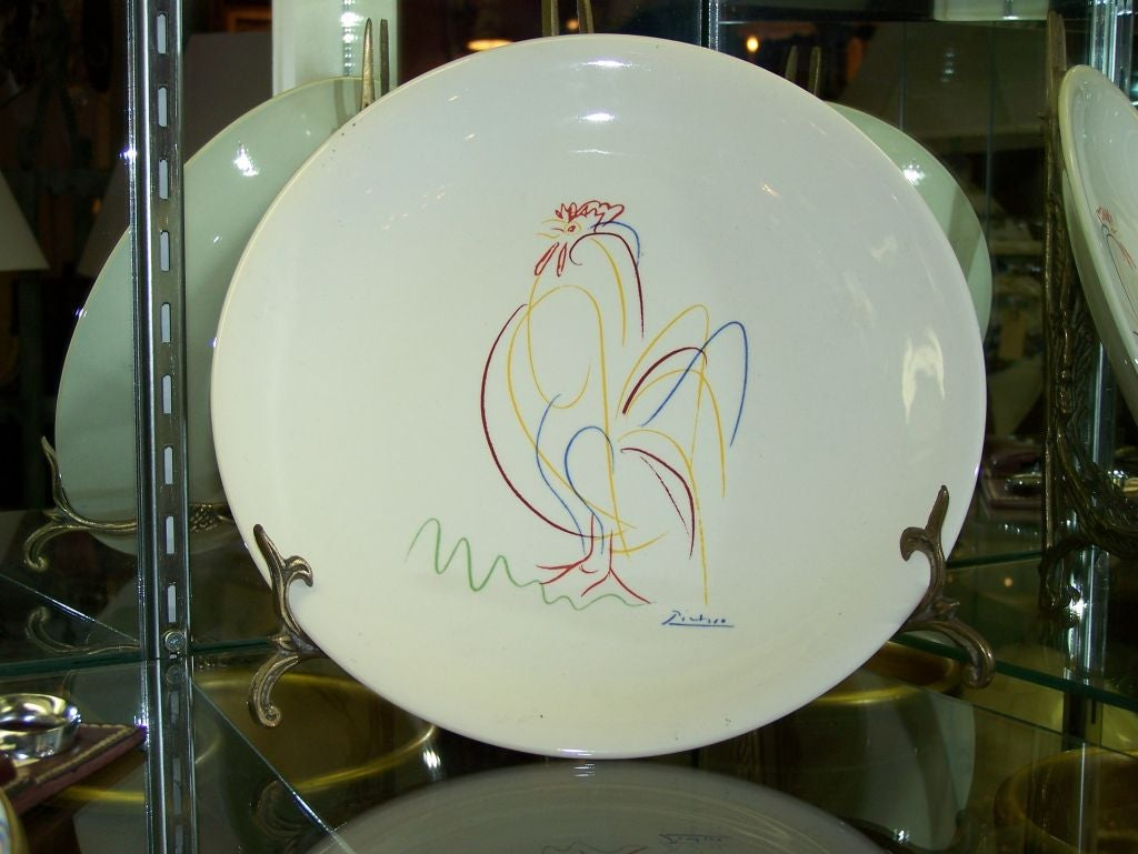 Hand Painted Decorative Plate In The Style Of Picasso For