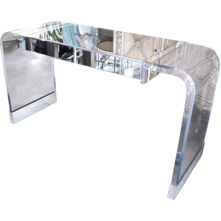 Charles Hollis Jones Lucite Vanity Table At 1stdibs