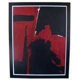 Big Abstract Painting signed Ben Ray