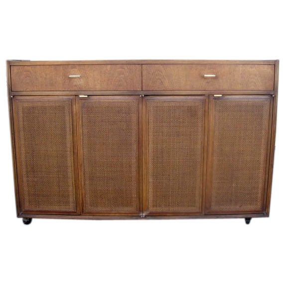 Buffet Cuisine 1950: Cane Doors 1950s Buffet By Barker Bros At 1stdibs