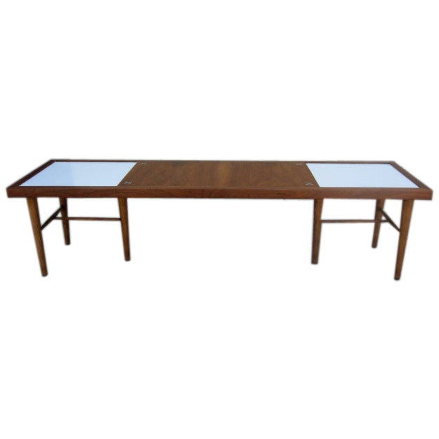 Teak and white formica coffee table at 1stdibs Formica coffee table