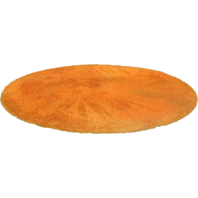 Huge Orange Shaggy Rug