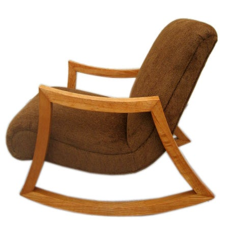 Very Comfortable 1950s Rocking Chair At 1stdibs