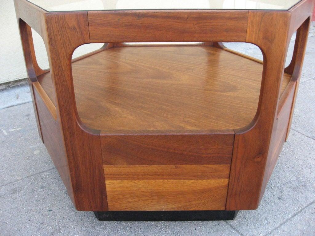 Hexagonal Coffee Table By John Keal For Brown Saltman At 1stdibs