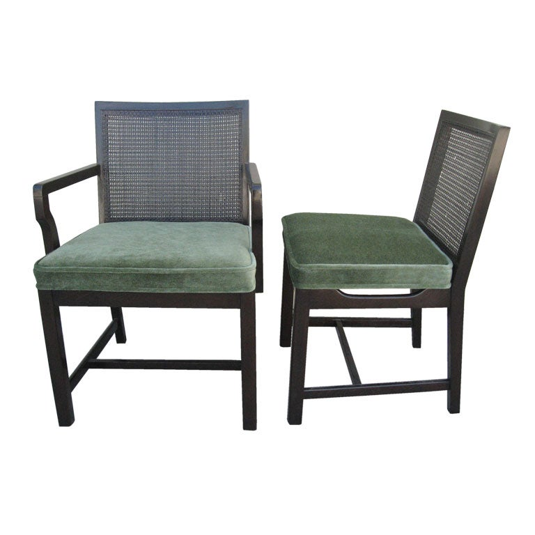 Set Of 6 Dining Chairs By Michael Jordan For Baker At 1stdibs