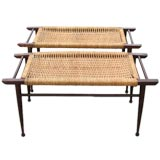 Pair of Rattan Bench