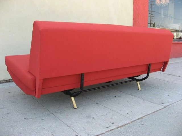 Marco zanuso 1950s sofa bed and chaise longue at 1stdibs for Bed chaise longue