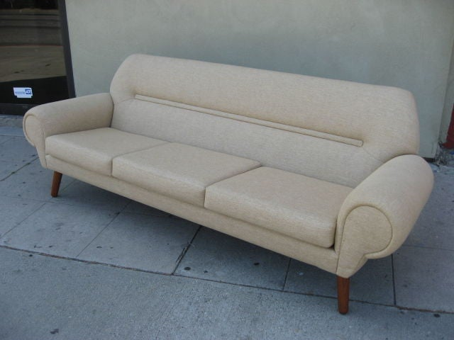 very comfortable sofa by hans wegner at 1stdibs. Black Bedroom Furniture Sets. Home Design Ideas