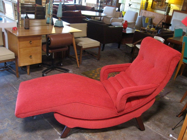 very comfortable chaise at 1stdibs. Black Bedroom Furniture Sets. Home Design Ideas