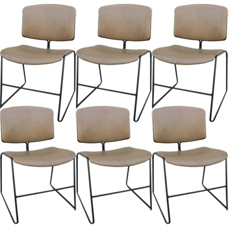 set of 6 stackable 1960s dining chairs at 1stdibs