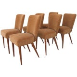 Set of 6 French 50s Chairs by Alain Richard