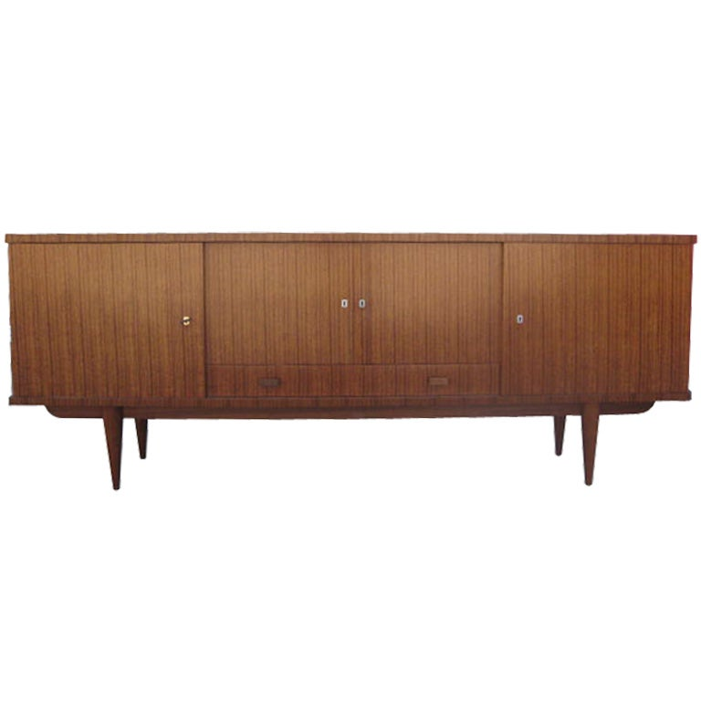 Zebra Wood French Sideboard At 1stdibs