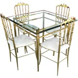 Rare Chiavari Games table with four chairs