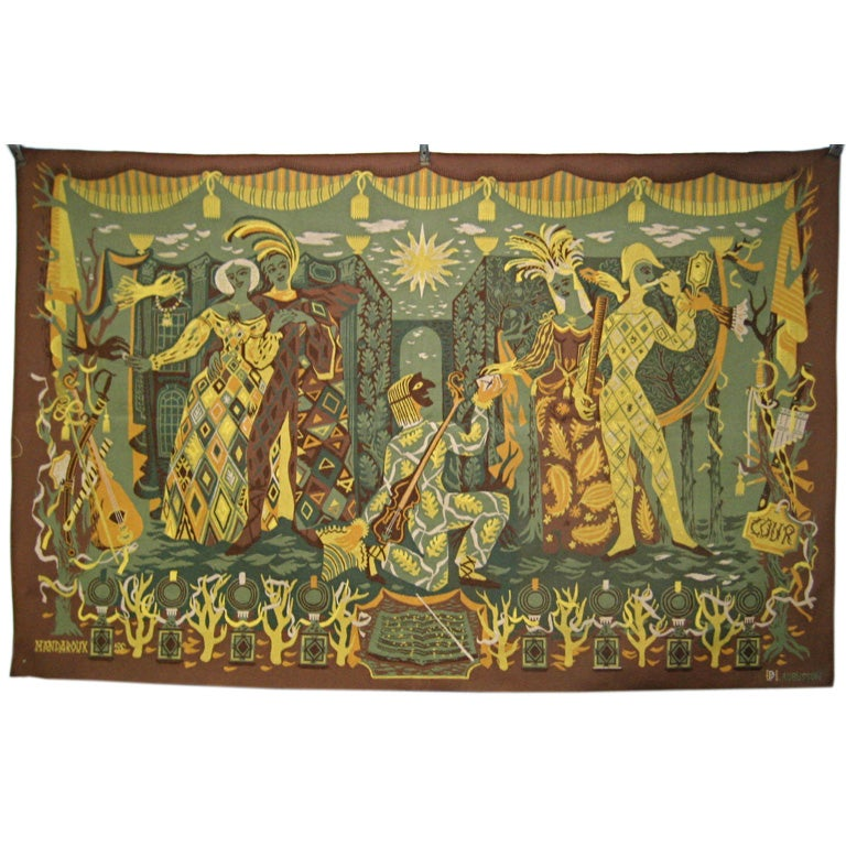 deco aubusson tapestry 20th century at 1stdibs