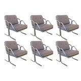 Set of Six Lounge chairs by Jerry Johnson for Landes