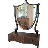Regency style Dressing Mirror with Jewelry Drawer