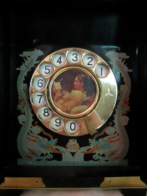 Vintage Chinoiserie Telephone with Bakelite Receiver image 6