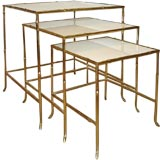 Faux Bamboo Brass Nesting tables.