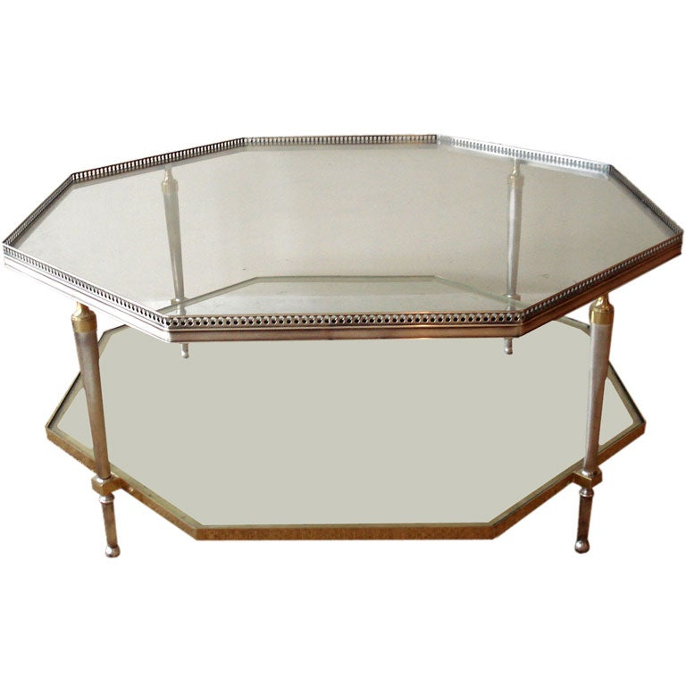 Two Tiers Octagonal Coffee Table At 1stdibs