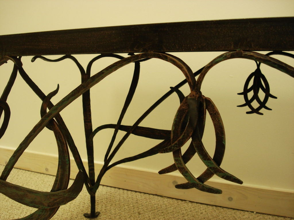 Art Nouveau Style Wrought Iron Coffee Table. at 1stdibs