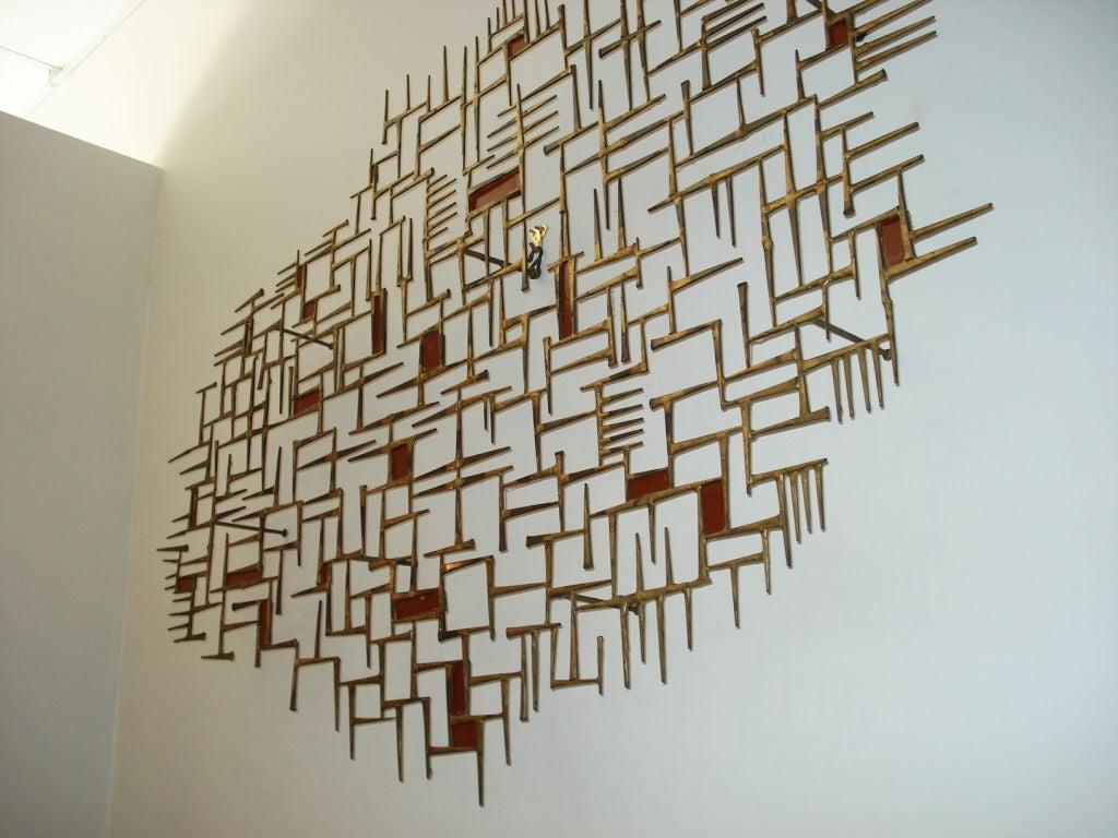Rare  Metal  Wall Sculpture. 1