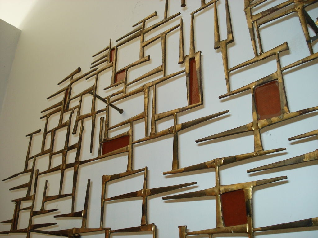 Late 20th Century Rare  Metal  Wall Sculpture.