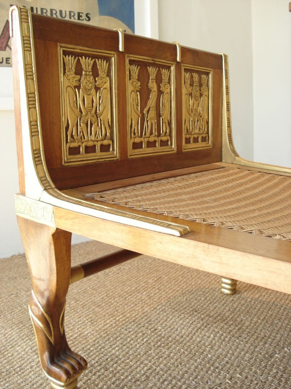 Egyptian Revival Chaise At 1stdibs
