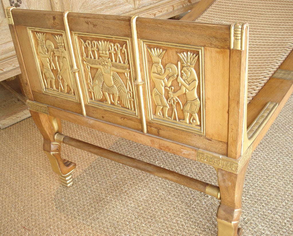 Egyptian Revival Chaise. 4