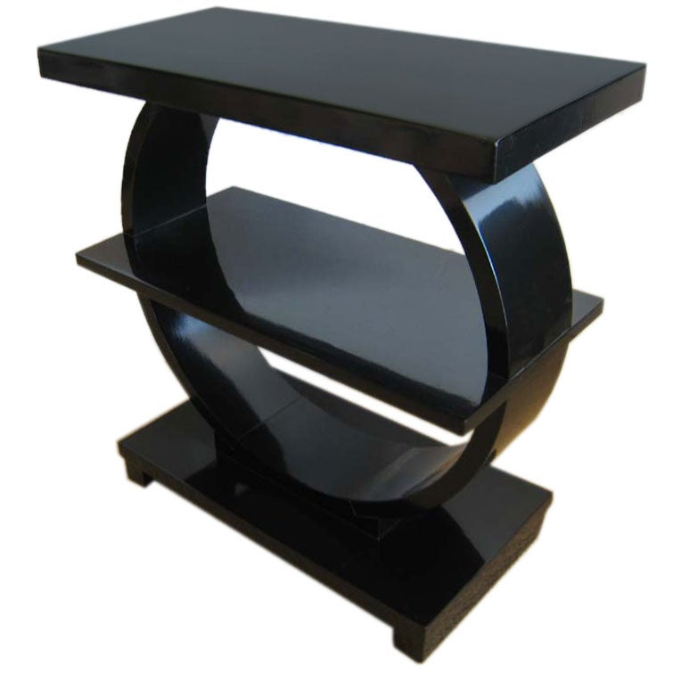 Art deco streamline table at 1stdibs