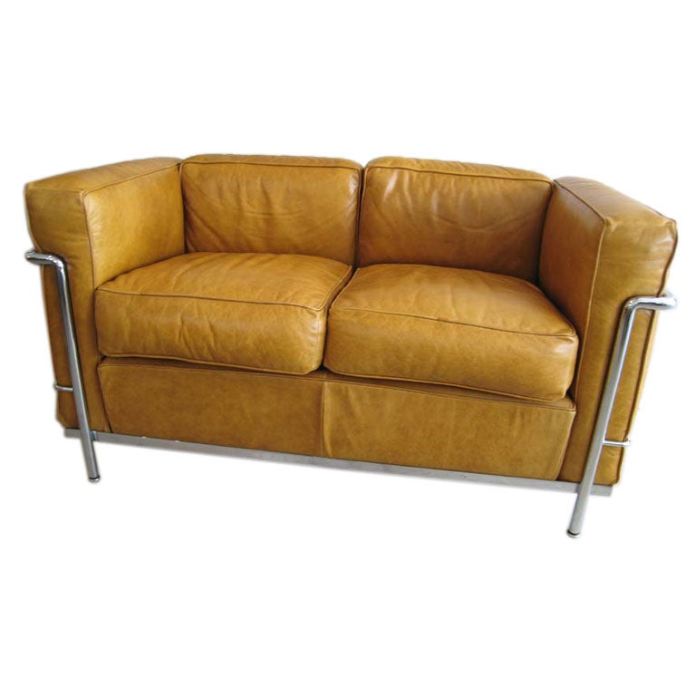 Cassina Le Corbusier Settee Sofa Bauhaus Style At 1stdibs