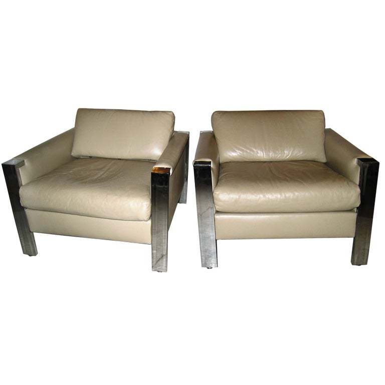 COOL HI END LOUNGE CHAIRS at 1stdibs