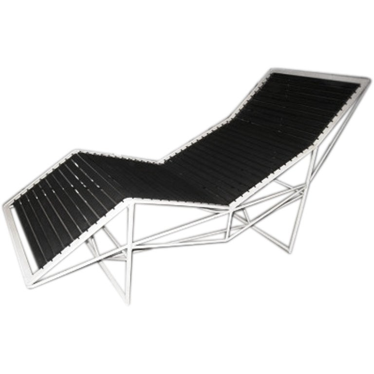 1970s italian chaise lounge at 1stdibs - Chaise longue cuir fly ...