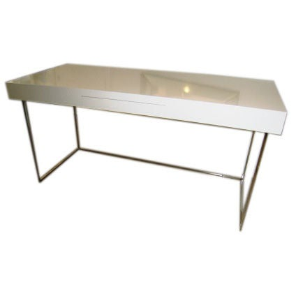 Chic 1970s Modern Desk At 1stdibs
