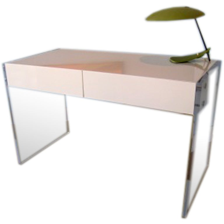 Amazing lucite floating desk at 1stdibs for Perspex desk