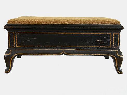 Louis Xv Period Painted And Upholstered One Drawer Travel Bench At 1stdibs