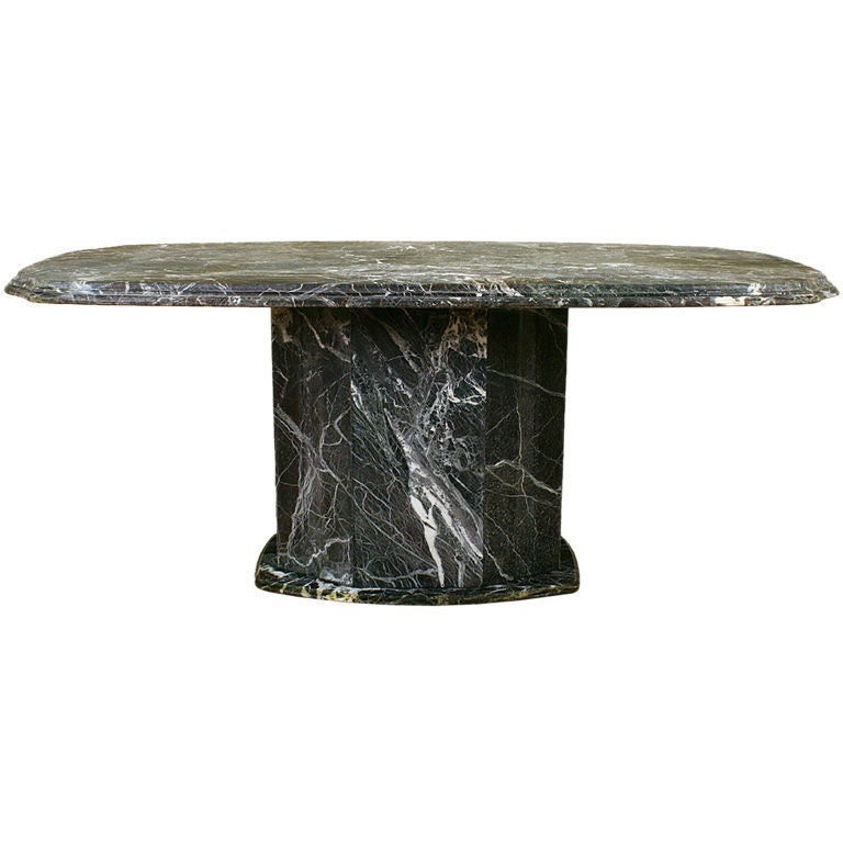 Italian Art Deco Marble Dining Table 1