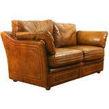 Italian Leather Upholstered Sofa