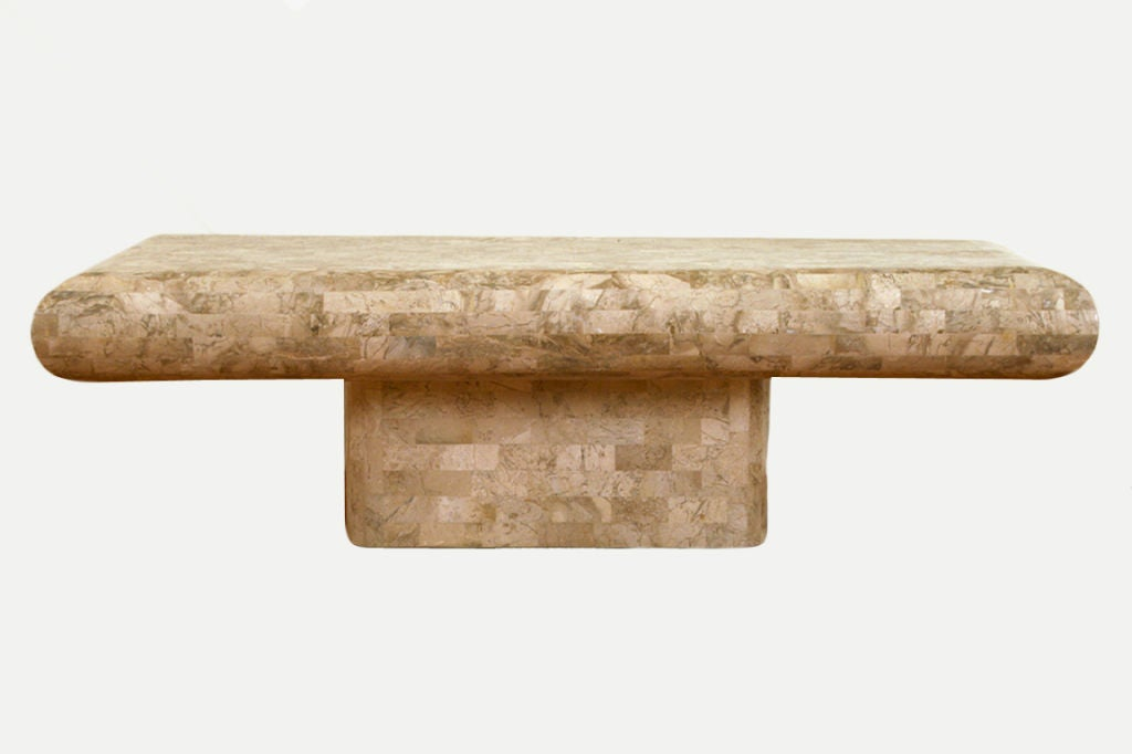 Modern Faux Marble Coffee Table At 1stdibs