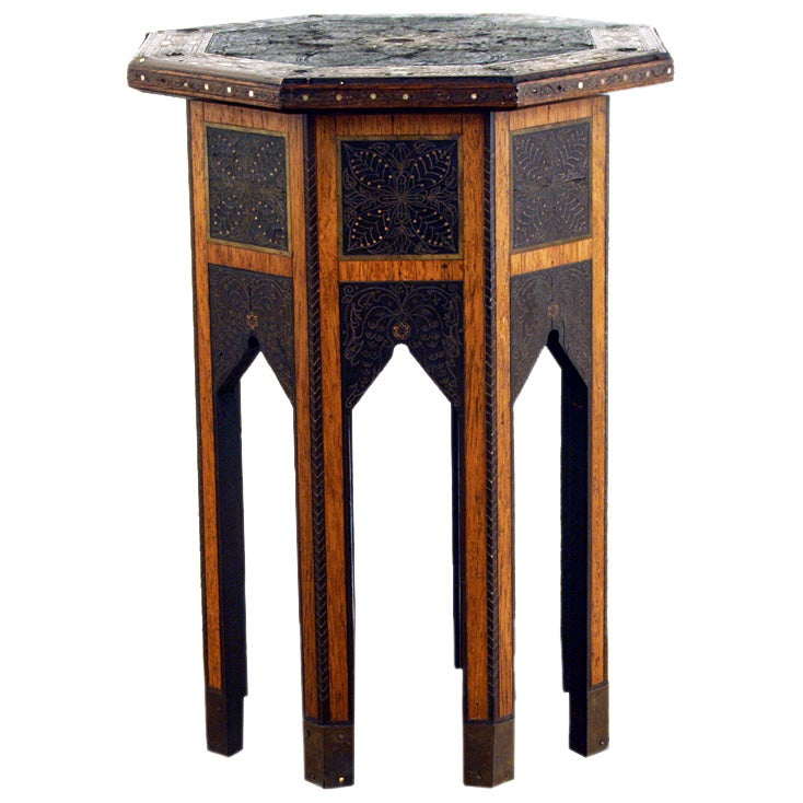 Levantine octagonal side table at stdibs