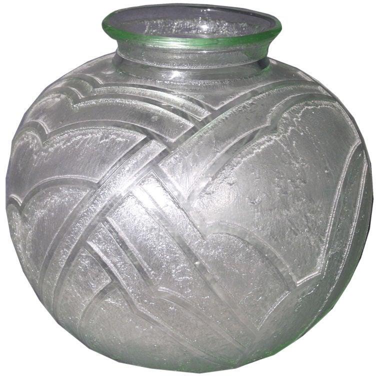 deco daum glass vase circa 1920 at 1stdibs